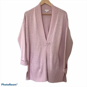 J. Jill Open Cardigan With Safety Pin Closure